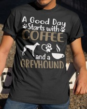 A Good Day With Coffee And Greyhound Classic T-Shirt apparel-classic-tshirt-lifestyle-28
