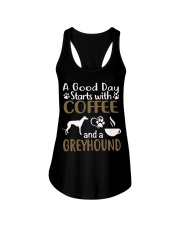 A Good Day With Coffee And Greyhound Ladies Flowy Tank thumbnail