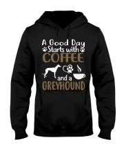 A Good Day With Coffee And Greyhound Hooded Sweatshirt thumbnail