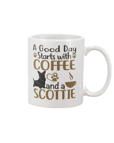 A Good Day Starts With Coffee And Scottie