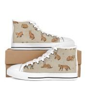 Savannah cat Men's High Top White Shoes thumbnail