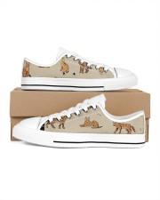 Savannah cat Men's Low Top White Shoes thumbnail