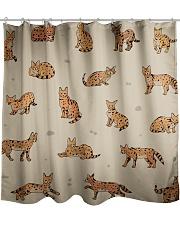 Savannah cat Shower Curtain thumbnail