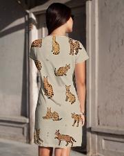 Savannah cat All-over Dress aos-dress-back-lifestyle-1