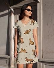 Savannah cat All-over Dress aos-dress-front-lifestyle-1