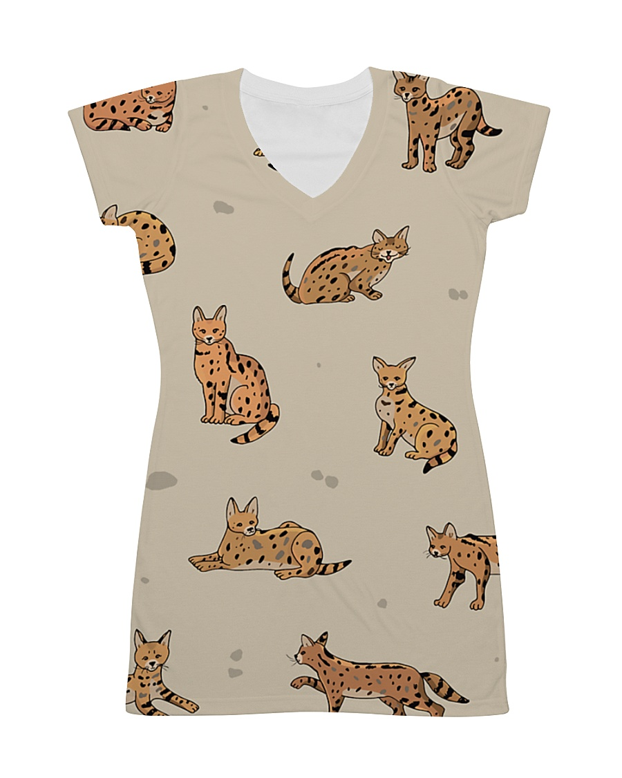 Savannah cat All-over Dress