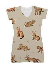 Savannah cat All-over Dress front