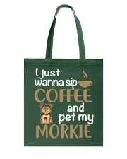 Drink Coffee WIth My Morkie Tote Bag thumbnail
