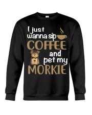 Drink Coffee WIth My Morkie Crewneck Sweatshirt thumbnail