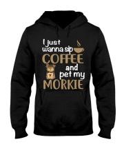 Drink Coffee WIth My Morkie Hooded Sweatshirt thumbnail