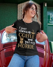 Drink Coffee WIth My Morkie Ladies T-Shirt apparel-ladies-t-shirt-lifestyle-01