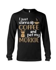 Drink Coffee WIth My Morkie Long Sleeve Tee thumbnail