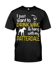 Drink Wine With Patterdale Terrier  Classic T-Shirt thumbnail