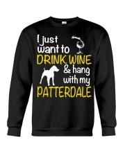 Drink Wine With Patterdale Terrier  Crewneck Sweatshirt thumbnail