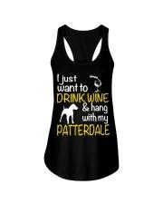 Drink Wine With Patterdale Terrier  Ladies Flowy Tank thumbnail