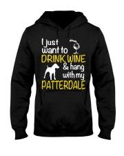 Drink Wine With Patterdale Terrier  Hooded Sweatshirt thumbnail