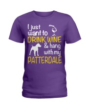 Drink Wine With Patterdale Terrier  Ladies T-Shirt front