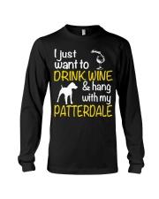 Drink Wine With Patterdale Terrier  Long Sleeve Tee thumbnail