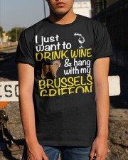 Drink Wine With My Brussels Griffon Classic T-Shirt apparel-classic-tshirt-lifestyle-29
