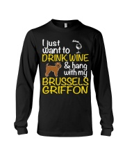 Drink Wine With My Brussels Griffon Long Sleeve Tee thumbnail