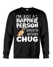 Happier Person Chug Crewneck Sweatshirt thumbnail
