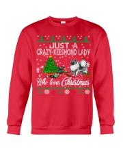 Crazy Keeshond Lady Who Loves Christmas Crewneck Sweatshirt front
