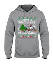 Crazy Keeshond Lady Who Loves Christmas Hooded Sweatshirt thumbnail