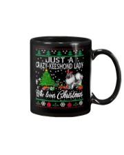 Crazy Keeshond Lady Who Loves Christmas Mug thumbnail