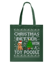 Christmas Is Better With A Toy Poodle Tote Bag thumbnail