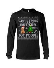 Christmas Is Better With A Toy Poodle Long Sleeve Tee thumbnail
