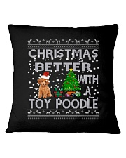 Christmas Is Better With A Toy Poodle Square Pillowcase thumbnail