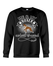 Boxer Is In My Heart And Soul Crewneck Sweatshirt front