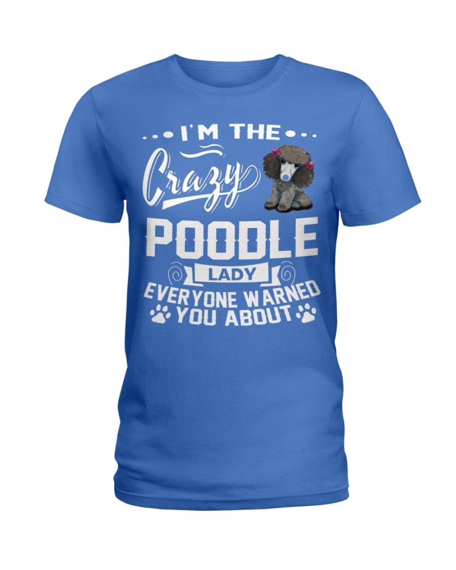 CRAZY POODLE LADY  Ladies T-Shirt
