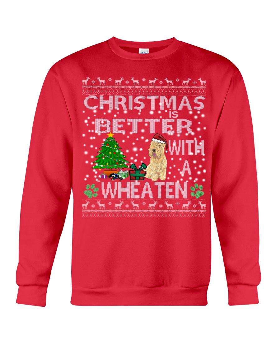 Christmas Is Better With A Wheaten Crewneck Sweatshirt