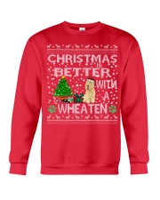 Christmas Is Better With A Wheaten Crewneck Sweatshirt front
