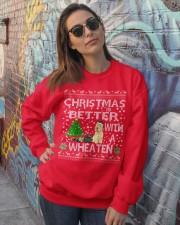 Christmas Is Better With A Wheaten Crewneck Sweatshirt lifestyle-unisex-sweatshirt-front-3