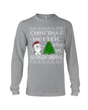 Christmas With A OES Old English Sheepdog Long Sleeve Tee thumbnail