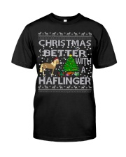Christmas Is Better With A Haflinger Horse Classic T-Shirt thumbnail