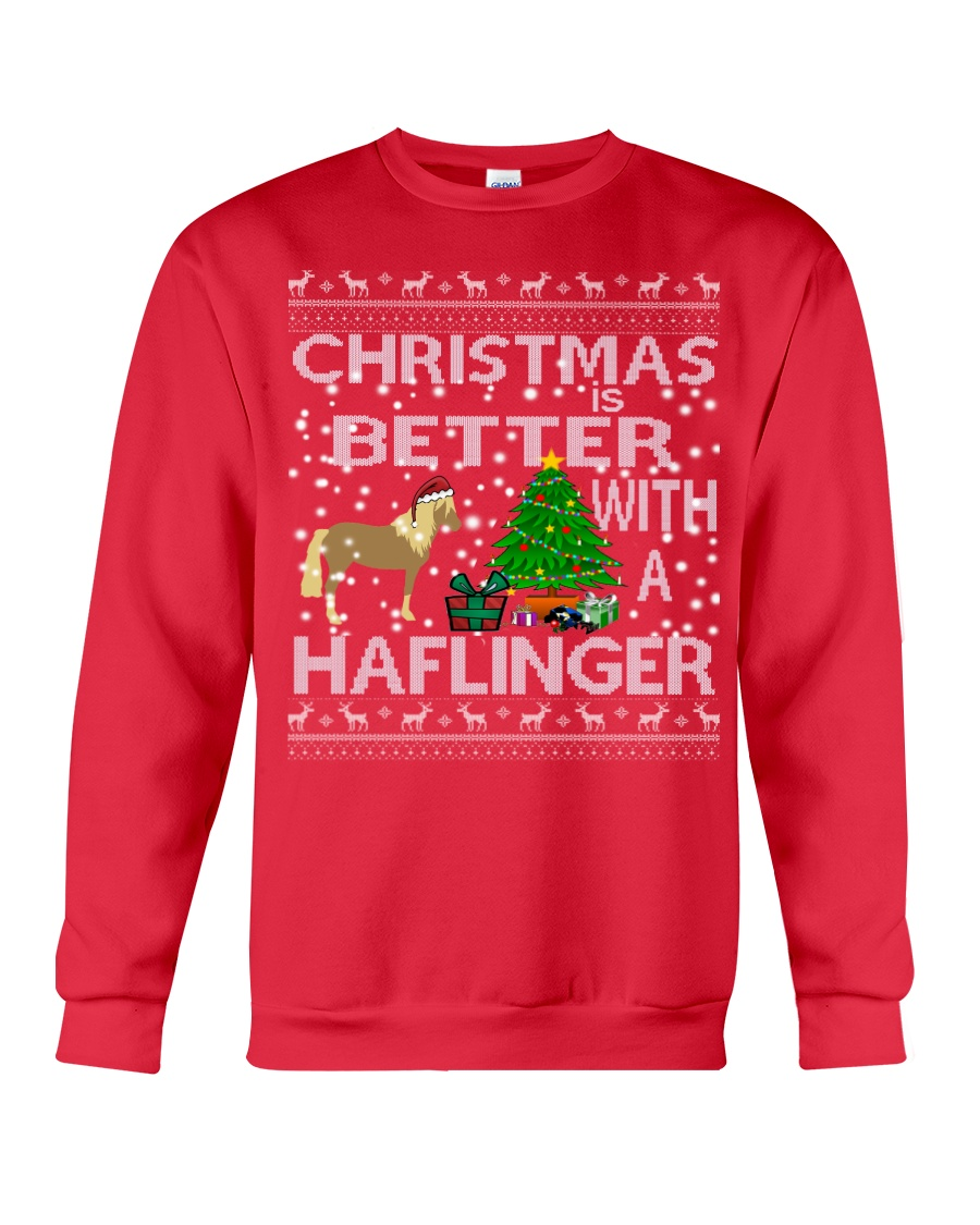 Christmas Is Better With A Haflinger Horse Crewneck Sweatshirt
