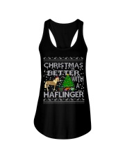 Christmas Is Better With A Haflinger Horse Ladies Flowy Tank thumbnail