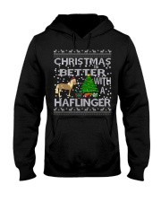 Christmas Is Better With A Haflinger Horse Hooded Sweatshirt thumbnail