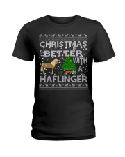 Christmas Is Better With A Haflinger Horse Ladies T-Shirt thumbnail