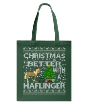 Christmas Is Better With A Haflinger Horse Tote Bag thumbnail