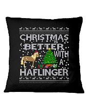Christmas Is Better With A Haflinger Horse Square Pillowcase thumbnail