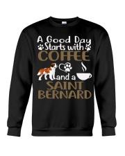 A Good Day With Coffee And Saint Bernard Crewneck Sweatshirt thumbnail