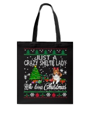 Crazy Sheltie Lady Who Loves Christmas Tote Bag thumbnail