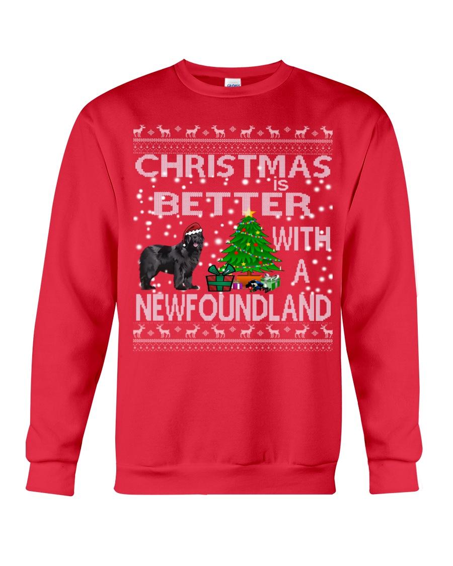 Christmas Is Better With A Newfoundland Newfie Crewneck Sweatshirt