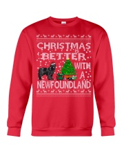 Christmas Is Better With A Newfoundland Newfie Crewneck Sweatshirt front
