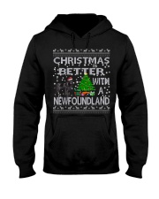 Christmas Is Better With A Newfoundland Newfie Hooded Sweatshirt thumbnail