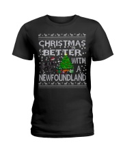 Christmas Is Better With A Newfoundland Newfie Ladies T-Shirt thumbnail